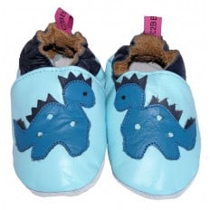 Zapitillas de bebe de cuero suave niños antideslizante | Dragón azul