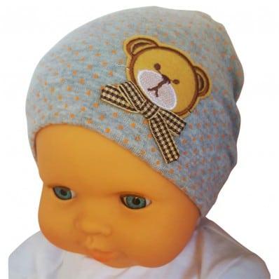 Bonnet bébé petit ourson - taille unique | Gris
