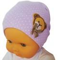 Bonnet bébé petit ourson - taille unique   Parme