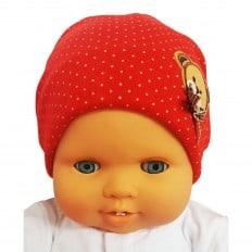Bonnet de bébé petit ourson - taille unique | Rouge