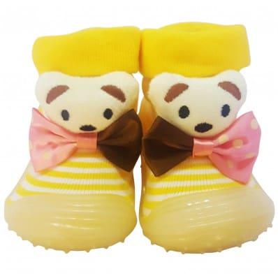 Hausschuhe - Socken Baby Kind geschmeidige Schuhsohle Mädchen | Fliege Bär