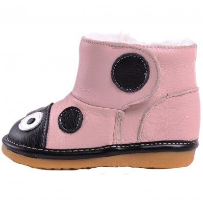 Chaussures semelle souple bottes coccinelles