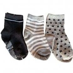 3 paires de chaussettes antidérapantes bébé enfant de 1 à 3 ans | Lot 21