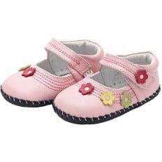 YXY - Krabbelschuhe Babyschuhe Leder - Mädchen | Rose Kleine Blumen