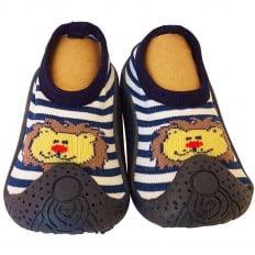 Hausschuhe - Socken Baby Kind geschmeidige Schuhsohle Junge | kleiner Löwe