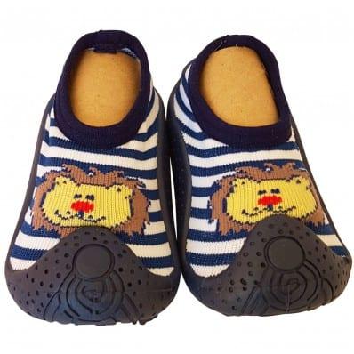 pas mal 0aaf7 d8b5f Chaussons-chaussettes enfant antidérapants semelle souple LION