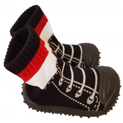 Calcetines con suela antideslizante para niños   Zapatilla de deporte negras