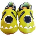 Soft leather baby shoes boys | Green monster
