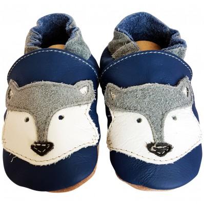 Scarpine Morbida Cuoio Bambini - ragazzo   Blue fox