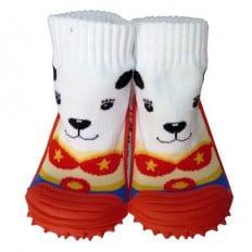 Calcetines con suela antideslizante para niños   Pequeño perro de circo