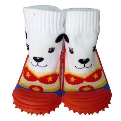 Chaussons-chaussettes bebe antidérapants semelle souple | Petit chien de cirque