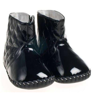 Little Blue Lamb - Chaussures premiers pas cuir souple | Bottines noires