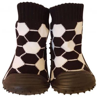 Calcetines con suela antideslizante para niños   Fútbol negro