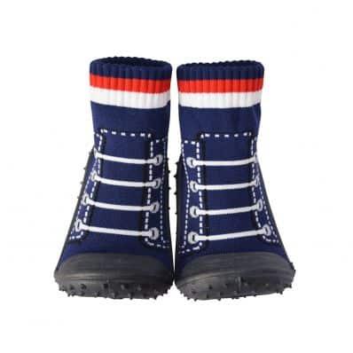 Scarpine calzini antiscivolo bambini - ragazzo   Pallacanestro blu scuro