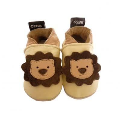 Chaussons en cuir souple PETIT LION C2BB - chaussons, chaussures, chaussettes pour bébé