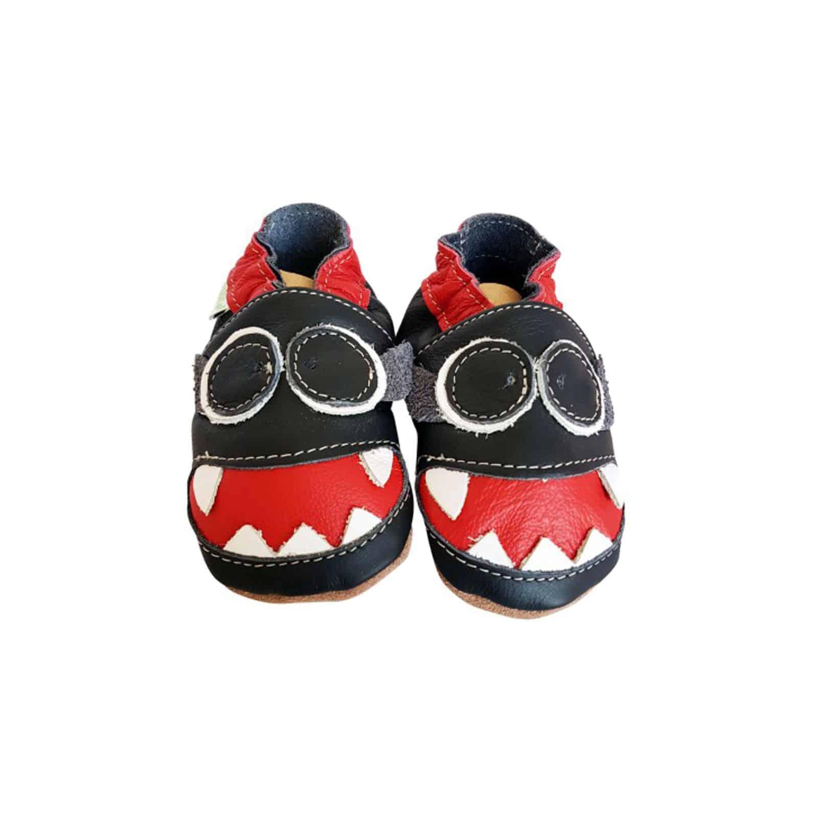 Chaussures 2018 gros remise 100% authentique Chaussons en cuir souple MONSTRE