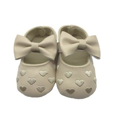 Chaussons COEUR ET NOEUD CREME