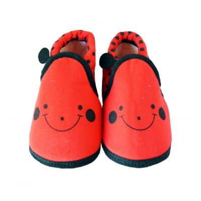 Soft cotton baby girls shoes | Ladybird