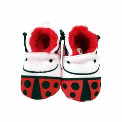 Soft cotton baby girls shoes | Miss ladybird