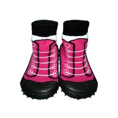 Hausschuhe - Socken Baby Kind geschmeidige Schuhsohle Mädchen | Sneakers fushia