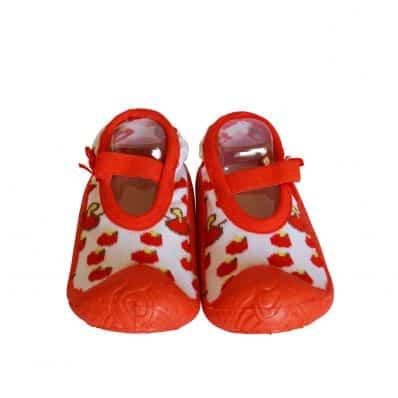 Chaussons-chaussettes antidérapants taille basse CERISES C2BB - chaussons, chaussures, chaussettes pour bébé