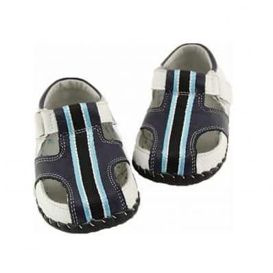 Chaussures premiers pas cuir souple Sandales