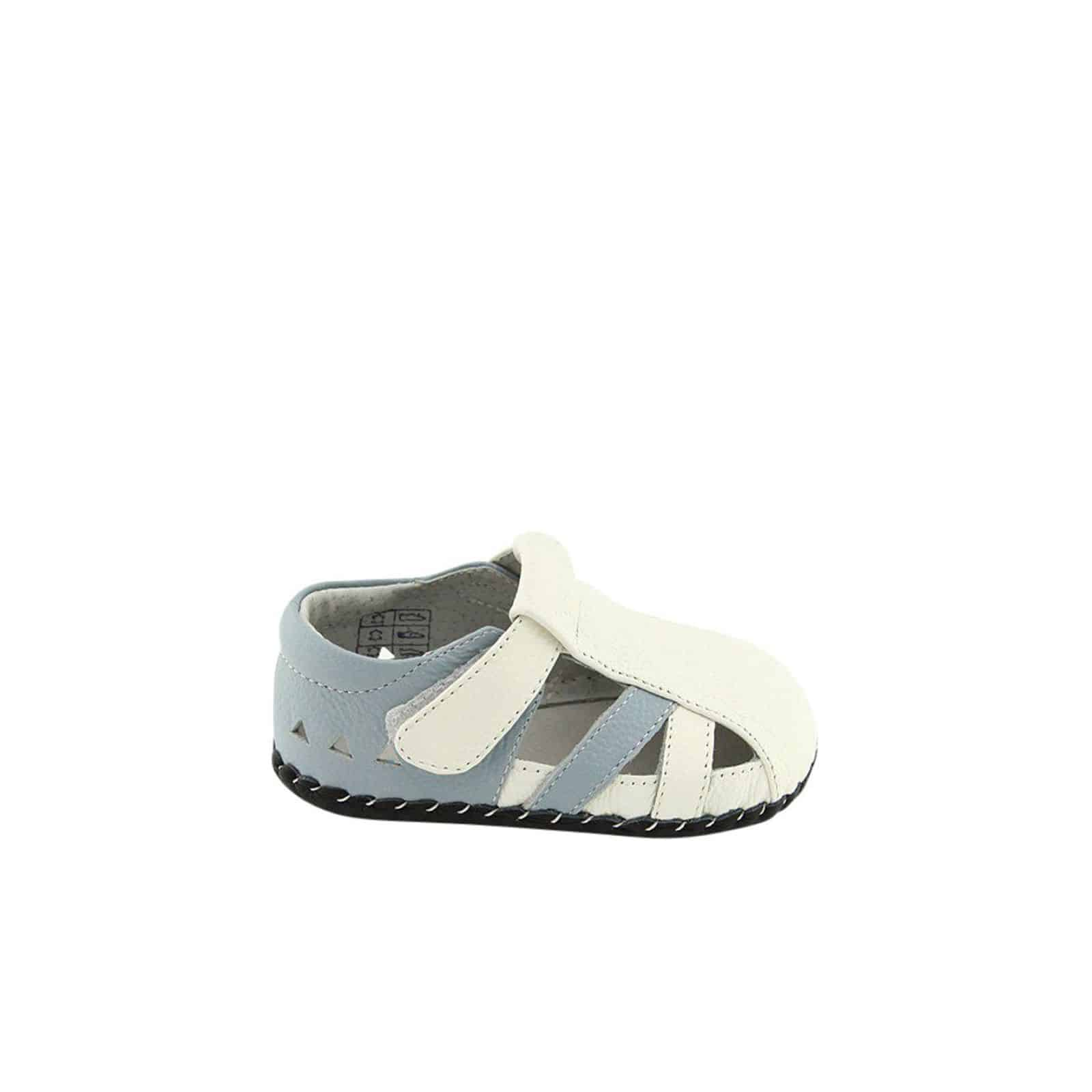 Leather Boys ShoesWhite Soft Steps First Blue Sandals Freycoo Baby OTPkXiZu