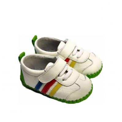 FREYCOO - Baby boys first steps soft leather shoes   White sneakers