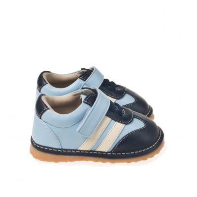 Little Blue Lamb - Scarpine bimba primi passi con fischietto | Sneakers blu