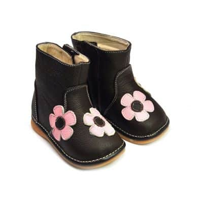 Chaussures semelle souple Bottes à fleurs