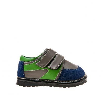 Little Blue Lamb - Scarpine bimba primi passi con fischietto | Sneakers grigio verde