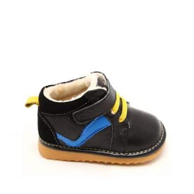 Chaussures semelle souple montantes à bande