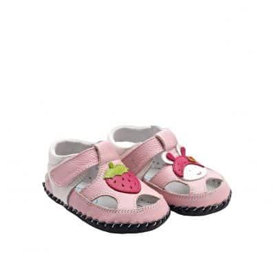 YXY - Krabbelschuhe Babyschuhe Leder - Mädchen   Erdbeere