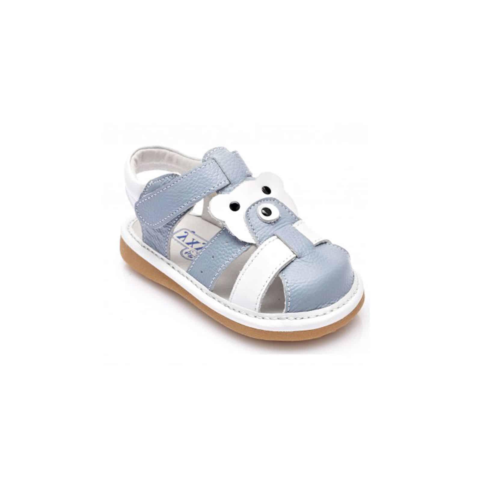 a2365ca0317a0 Chaussures semelle souple sandales fermées bicolores