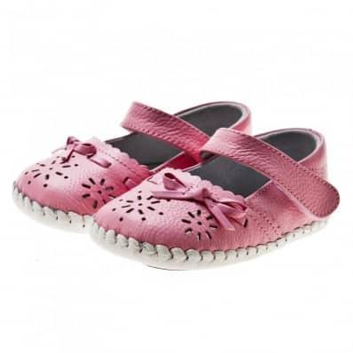 Little Blue Lamb - Zapatos de bebe primeros pasos de cuero niñas | Sandalias rosa ceremonia