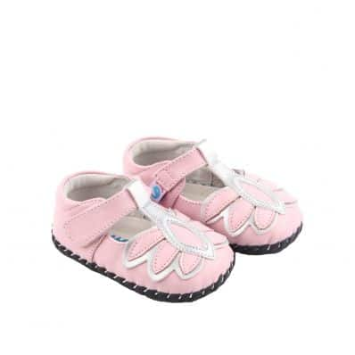 Chaussures premiers pas cuir souple MARA PINK