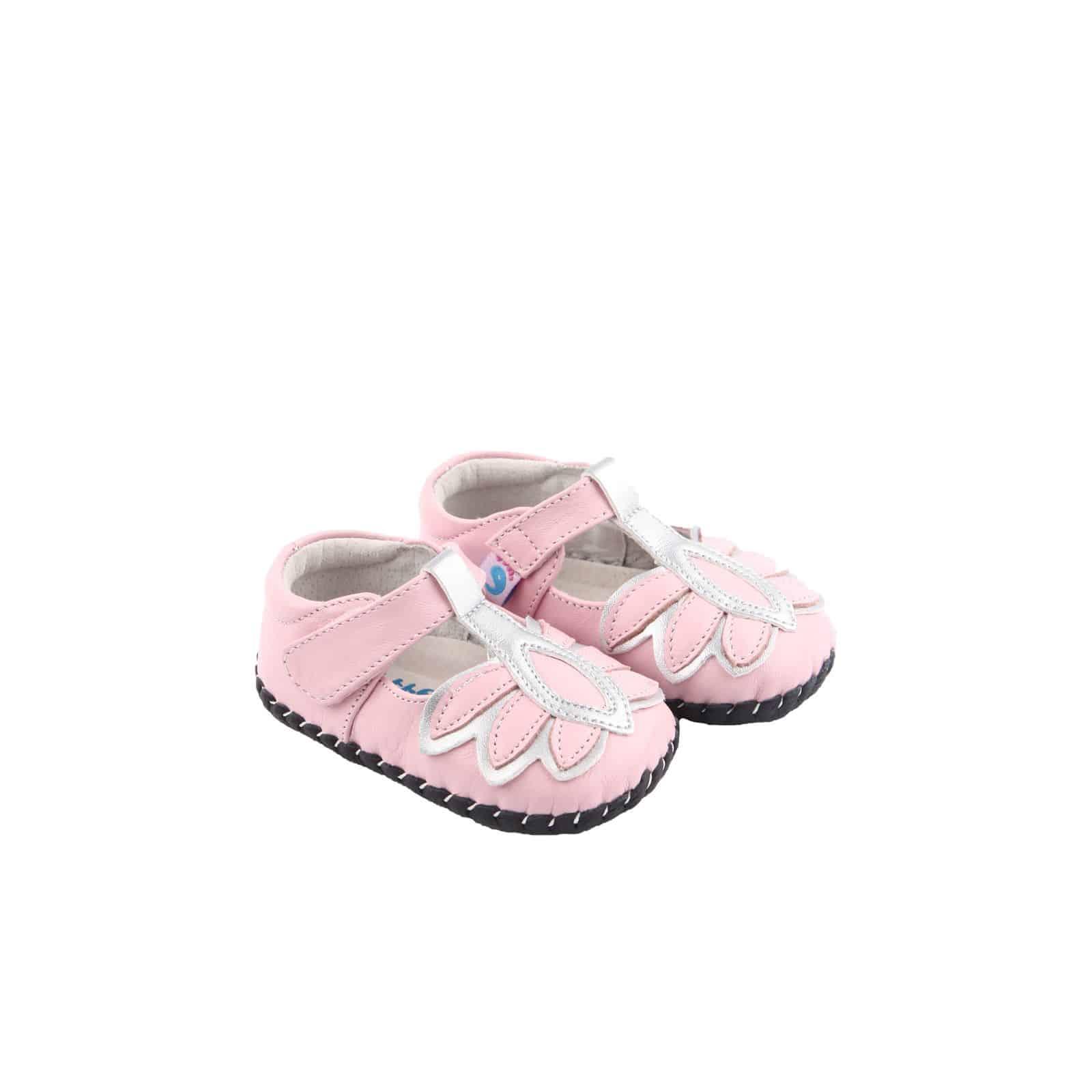 Chaussures Pas Premiers Mara Pink Cuir Souple Kc31TJlF
