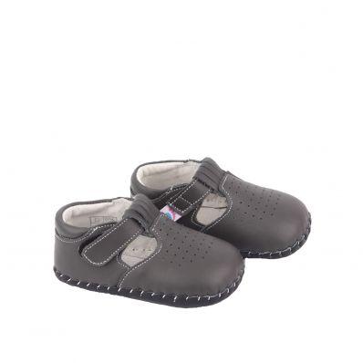 Sandales fermées semelles souples BEAU GOSSE GREY C2BB - chaussons, chaussures, chaussettes pour bébé