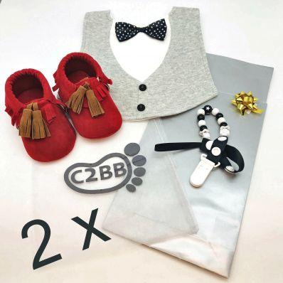 BOX Naissance pour jumeaux C2BB - chaussons, chaussures, chaussettes pour bébé