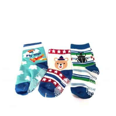 3 pairs of girls anti slip baby socks children from 1 to 3 years old | item 19