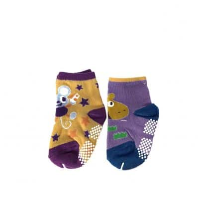 Lot de chaussettes antidérapantes SOURIS, GIRAFE C2BB - chaussons, chaussures, chaussettes pour bébé