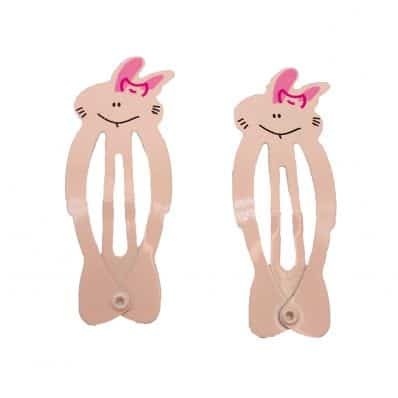Lot de barrettes LAPIN PINK
