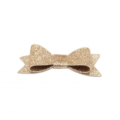 Barrette Noeud GLITTER GOLD