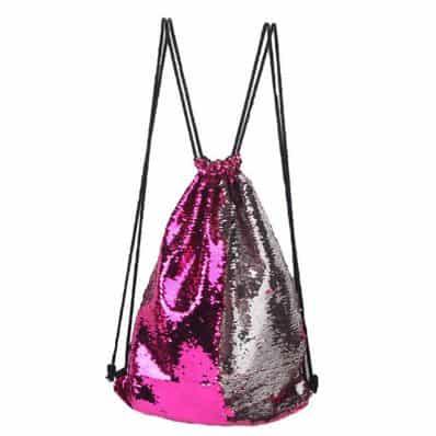 Sac à dos à sequin Pink Silver