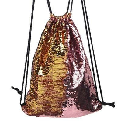 Sac à dos à sequin PINK GOLD