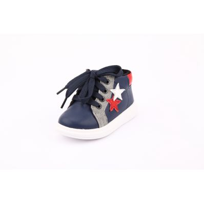 Little Blue Lamb - Soft sole girls Toddler kids baby shoes | Purple pink velvet sneakers
