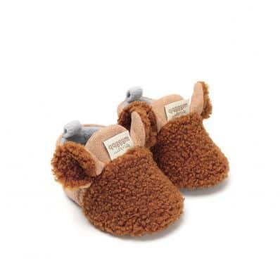 Chaussons bébé Mouton Chocolat C2BB - chaussons, chaussures, chaussettes pour bébé