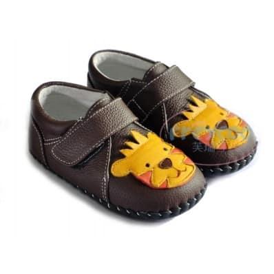 FREYCOO - Scarpine primi passi bimba in morbida pelle | Sneakers piccolo leone