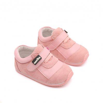 Chaussures premiers pas cuir souple baskets Nubuck Girly